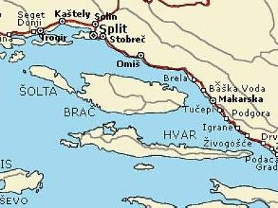 Chorvatsko - Střední Dalmácie