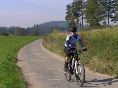 Provence levandulová na kole