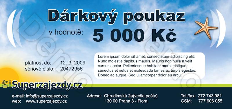 Dárkový poukaz SuperZájezdy.cz